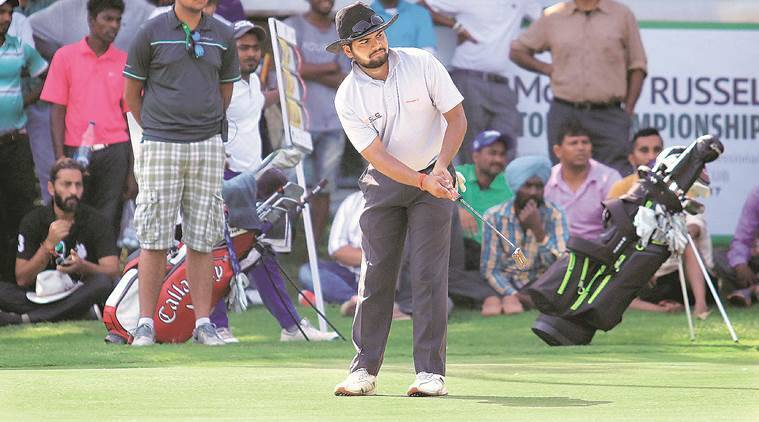 Chandigah golfer Shubhankar Sharma , Take Open Golf Championship, Chandigarh Golf Club , chandigarh sports news, chandigarh news, indian express news