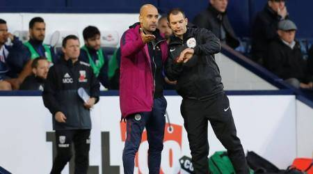 Pep Guardiola dismisses idea of Manchester City racing away withtitle