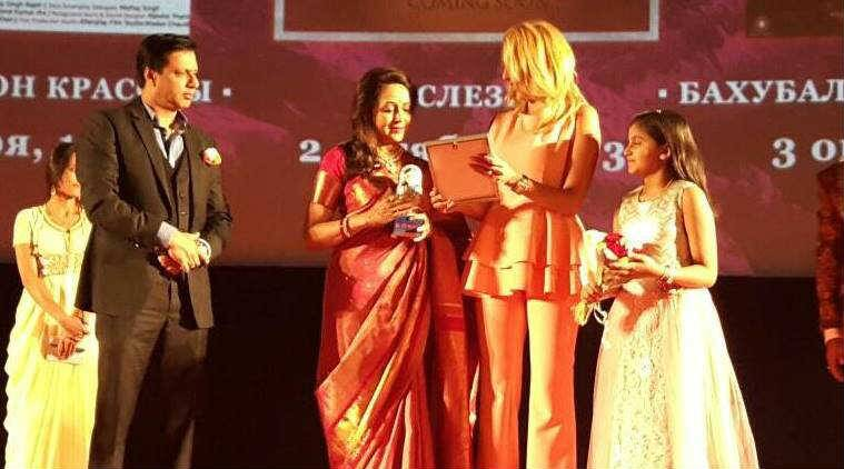 Hema Malini honoured in Russia for her contribution to