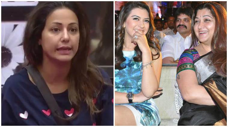 Hina Khan, Hansika Motwani , Hina Khan Hansika Motwani, Bigg Boss 11, Bigg Boss 11 news,  Khushbu Sundar, Hina Khan south film, Hina Khan on south actress