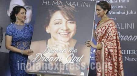 Deepika Padukone launches Hema Malini's biography Beyond the DreamGirl