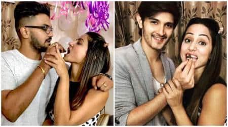 Hina Khan, hina khan pre-birthday celebation, inside pictures of hina khan pre-birthday celebation, hina khan birthday