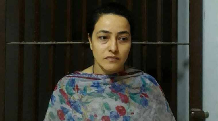 Honeypreet, Honeypreet arrest, Honeypreet sedition, Honeypreet jail, Dera Sacha Saudi, Gurmeet Ram Rahim Singh, Haryana Dera violence, India news, Indian Express