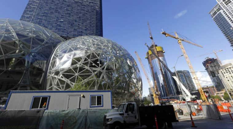 Amazon, HQ2, Amazon Seattle HQ, Amazon HQ workforce, Amazon Seattle workspace, Jeff Bezos, Seattle nonprofits, Amazon investments, Amazon public service, Amazon donations, Seattle unemployment, Amazon impact Seattle