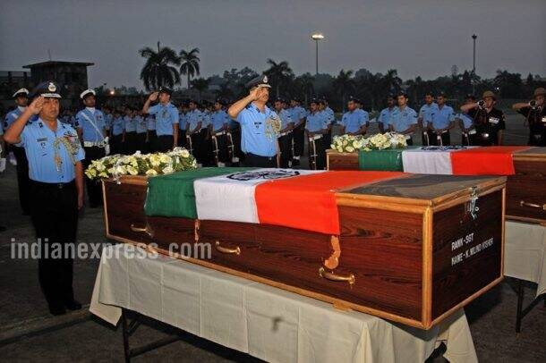 Air force commandos, air force commandos homage, IAF commandos homage photos, IAF commandos martyred, Air force commandos martyred, air force commandos killed, IAF encounter, Lashkar-e-Taiba militants, India news, indian express news