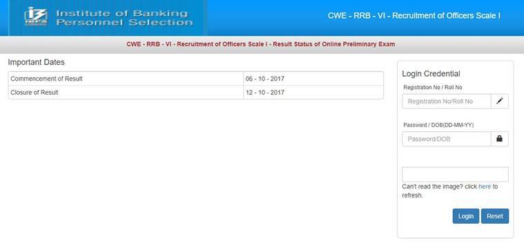 ibps, ibps.in, ibps rrb, ibps officer scale 1, ibps office assistant, ibps office assistant result, ibps rrb result, ibps officer scale 1 result, jobs, indian express