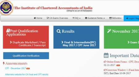 ICAI CA CPT December 2017 exam: Admit card out, download at icaiexam.icai.org