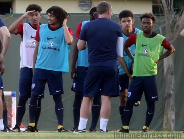 England u-17, fifa u-17 world cup, u-17 word cup, Jordon Sancho, Anjel Gomes, football, indian express