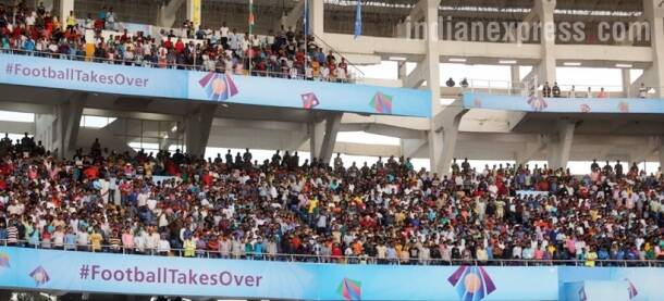 fifa u-17 world cup, u-17 world cup, england vs mexico, salt lake stadium, football, sports, indian express