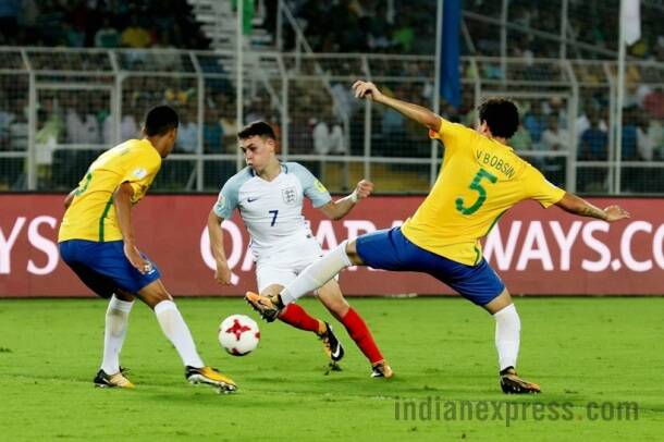 fifa u-17 world cup, u-17 wc, u-17 world cup, england u-17, england vs brazil, football, sports, indian express