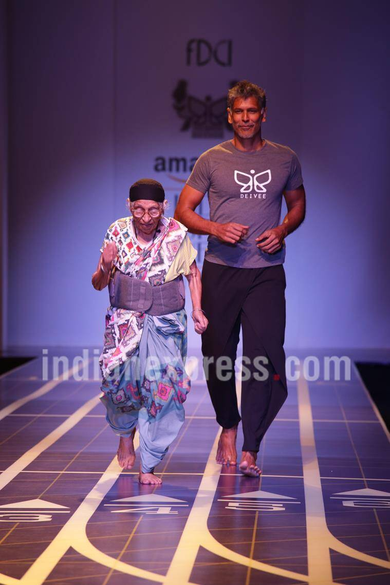 milind soman, amazon india fashion week, milind soman girlfriend, milind soman girlfriend photo