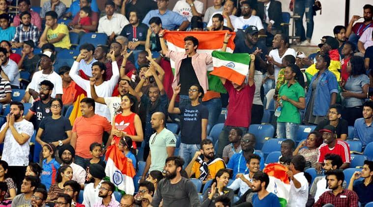 india u17 world cup, jawaharlal nehru stadium, india football fans, fifa u17 world cup, under 17 world cup, attendance jawaharlal nehru stadium, sports news, indian express