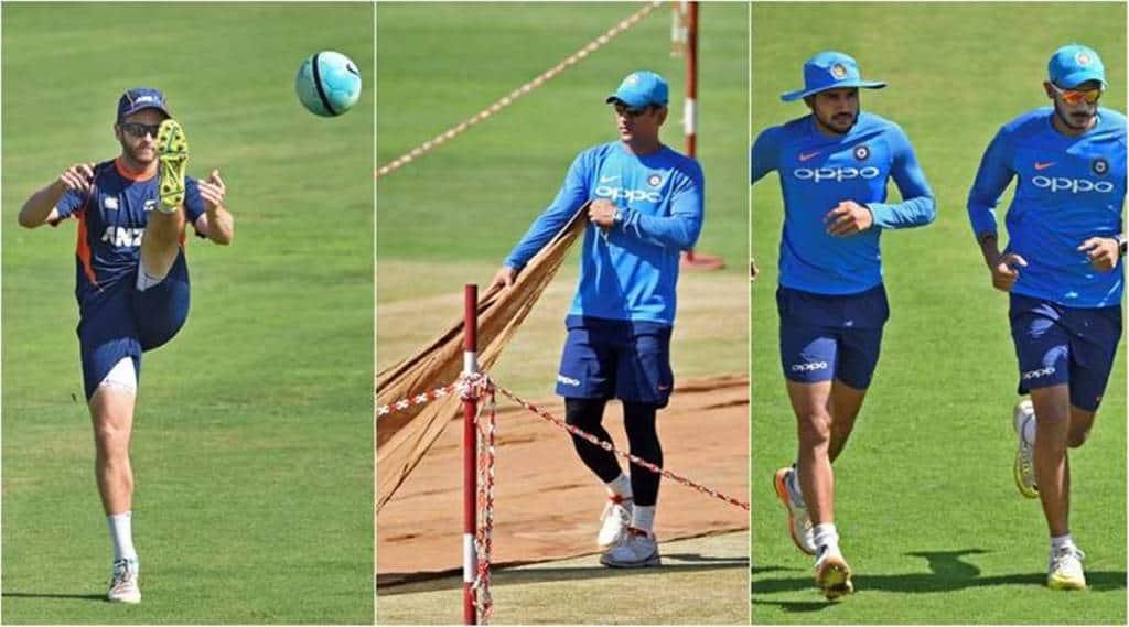 india vs new zealand, ind vs nz, india vs new zealand images, Rohit Sharma, Kedar Jadhav, cricket news, Indian Express