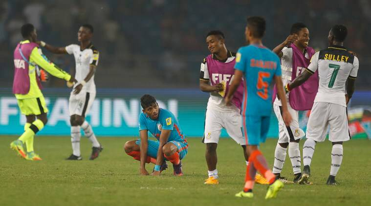 fifa u17 world cup, fifa under 17 world cup, india vs ghana, india vs ghana reactions, india vs ghana twitter, football news, sports news, indian express