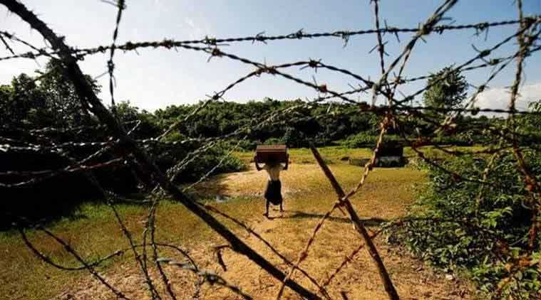 india-myanmar border, india-myanmar relations, India myanmar, Rajnath singh, indian citizens, india-myanmar border security, home ministry, SOP, myanmarese citizens, india-myanmar infiltration, mass exodus rohingyas, rohingyas from myanmar, rohingya muslims, indian express