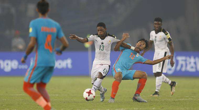 india vs ghana, india u-17, ghana u-17, fifa u-17 world cup, u-17 world cup, jawaharlal nehru stadium, football, sports news, indian express