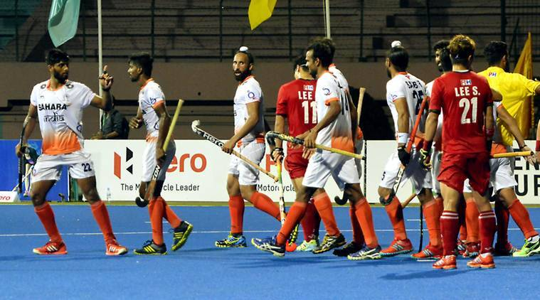 india vs korea, india vs south korea, india hockey, asia cup hockey, asia cup, hockey news, sports news, indian express