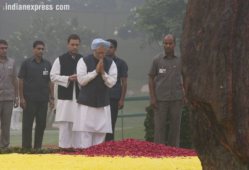 PM, Pranab, Manmohan, Rahul pay tributes to Indira Gandhi on death anniversary