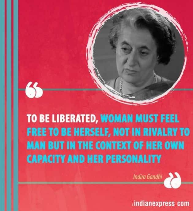 Indira Gandhi, indira gandhi quotes, indira gandhi assassination, indira gandhi death anniversary, powerful quotes by indira gandhi, motivational quotes by indira gandhi, indian express, indian express news