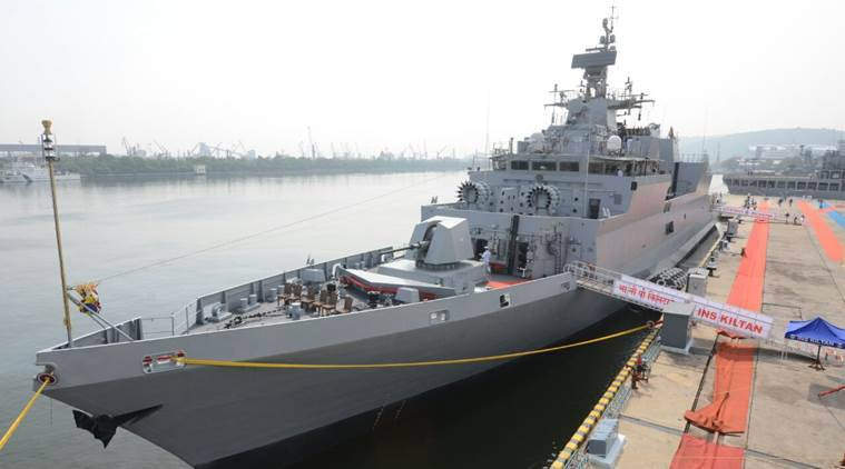 ins kiltan, nirmala sitharaman, ins kiltan commission, indian navy, ins kiltan indian navy, indian navy ship, sunil lanba, make in india ship,