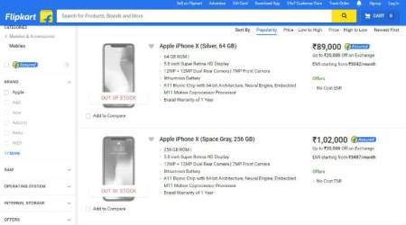 Apple iPhone X 'out of stock' on Flipkart within half an hour of pre-sale booking