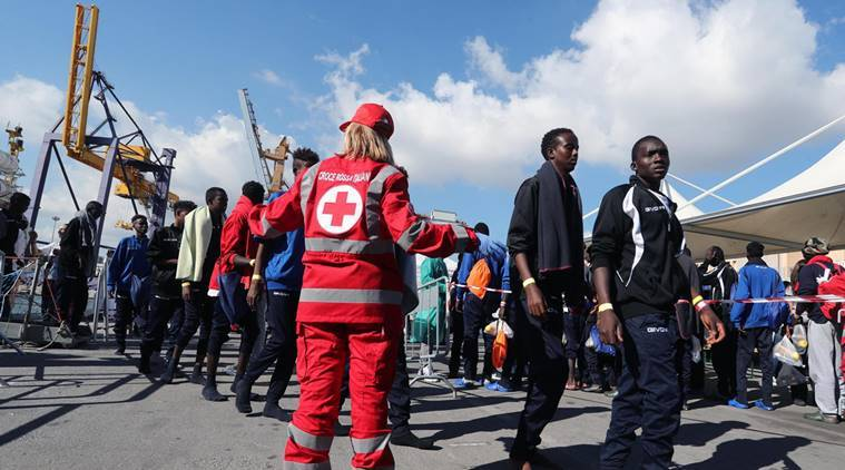 Italy migrant crisis, middle east migrant crisis, migrants in italy, European union, EU migrant crisis, world news, indian express