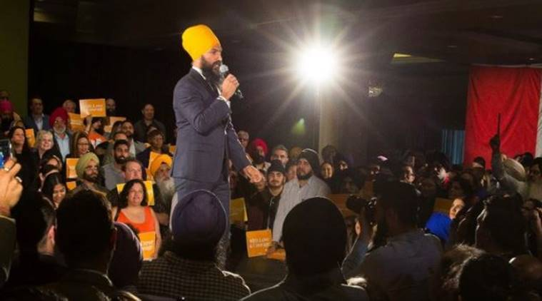 Jagmeet Singh, Canada's New Democratic Party, Canada's New Democratic Party Sikh leader, Sikh leader Canada, Justin Trudeau, Canada Parliament, World News, Indian Express News