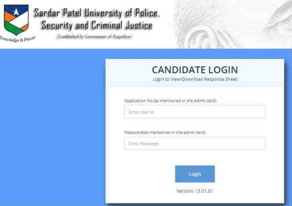 sardar patel university, jail prahari result, policeuniversity.ac.in, jail prahari answer keys