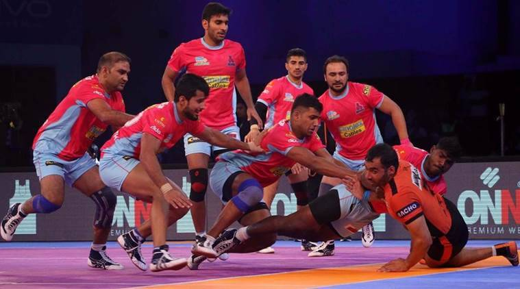 Image result for Puneri Paltan defeated Jaipur Pink Panthers 38-30 in Pro Kabaddi League