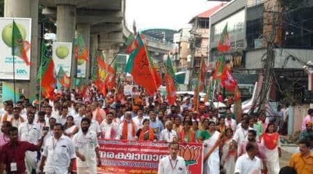 Jan Raksha March, a BJP show of strength inKochi