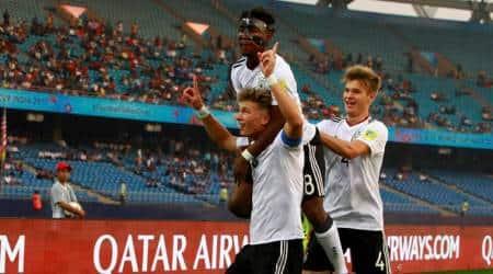 FIFA U-17 World Cup, Jann-Fiete Arp, Jann-Fiete Arp goal, Jann-Fiete Arp Germany, sports news, football, Indian Express