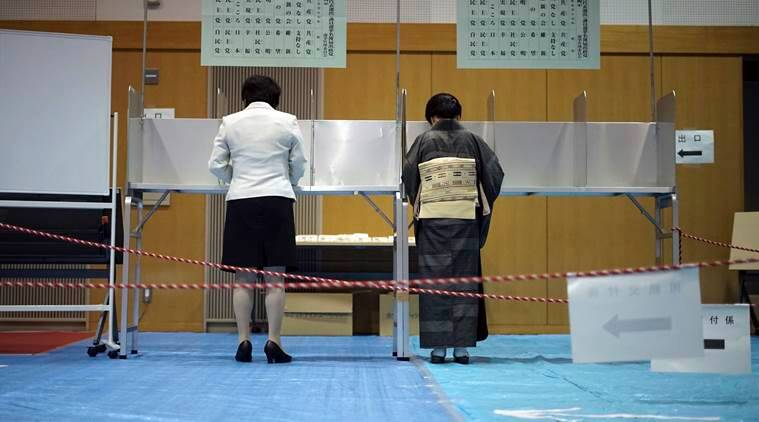 Japan, Japan elections, Shinzo Abe, Liberal Democratic Party, North Korea, Japan government, Japan Opposition, Donald Trump, World news, Indian Express