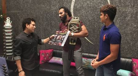 Jinder Mahal personally invites Sachin Tendulkar, Arjun for WWE Live Event in December