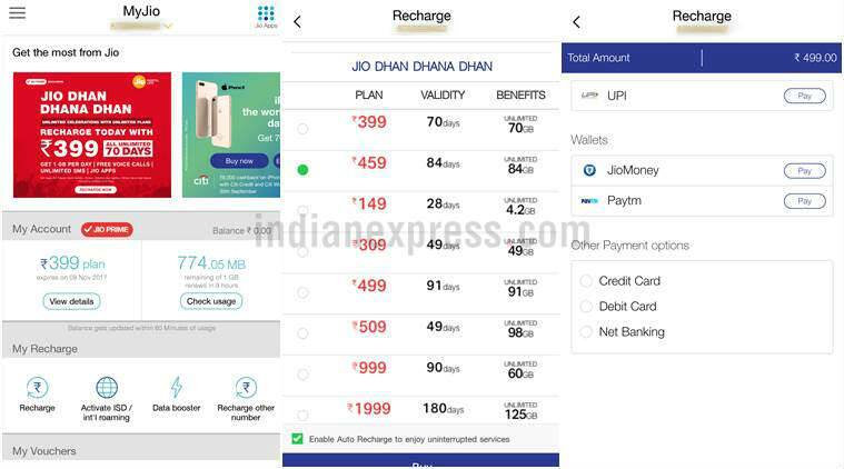 Reliance Jio,Jio new Rs 499 plan, Jio 4G plans, Jio prepaid plans, Jio new plan, Jio new Rs 499 recharge, jio 4G recharge, My Jio App, Jio 499 data plan, Jio data plans, Jio Dhan Dhana Dhan offers, Jio new recharges, My Jio app offers, Jio offers 2017