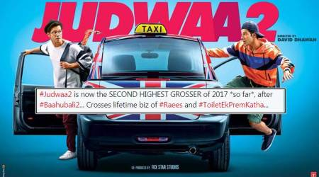 Judwaa 2 box office: Varun Dhawan film becomes second highest grosser of 2017 after Baahubali 2
