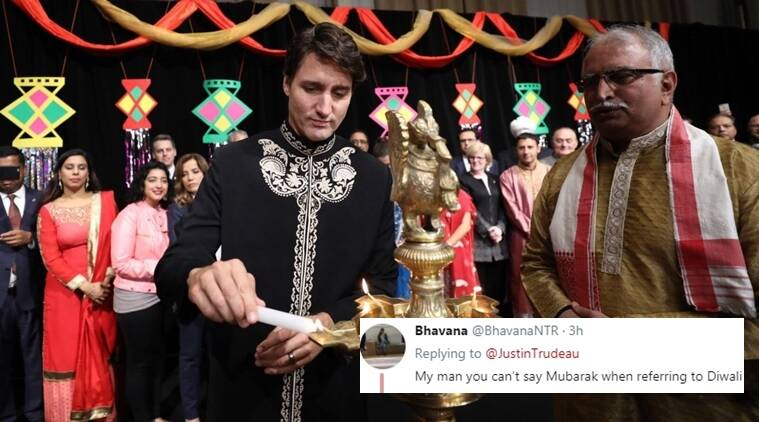 diwali, justin trudeau, justin trudeau diwali wish, justin trudeau diwali tweet, canadian prime minister diwali, twitter reactions, indian express, indian express news