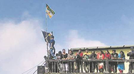 Bimal Gurung supporters reclaim GJM office in Kalimpong, hang his picture inside