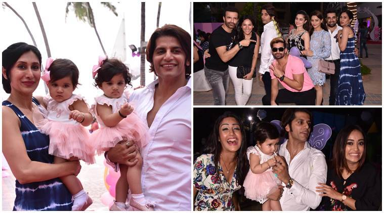 Karanvir Bohra, Teejay Sidhu, Karanvir Bohra daughter's birthday, Karanvir Bohra twins, Karanvir Bohra daughters first bithday photos, Karanvir Bohra news, Bella