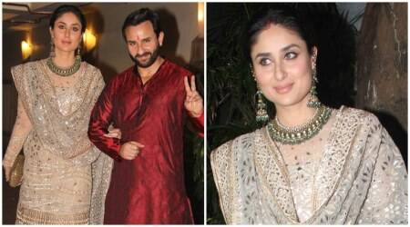 Kareena Kapoor Khan looks regal in a golden Tarun Tahiliani sharara at Aamir Khan's Diwali bash