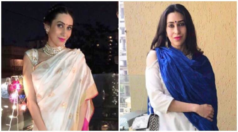 karisma kapoor, karisma kapoor fashion, karisma kapoor latest photos, karisma kapoor diwali fashion, diwali 2017, celeb fashion, bollywood fashion, indian express, indian express news