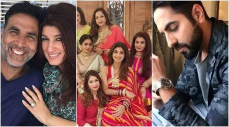 Karva Chauth 2017: Twinkle Khanna's unabashed tweet, Ayushmann Khurrana breaking stereotypes and Sridevi's mesmerizing picture