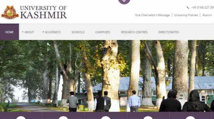 kashmir university, ku, kashmiruniversity.net