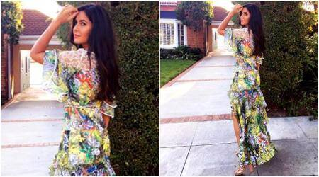 Katrina Kaif's latest Instagram photo has her flaunting summer love in this floral Peter Pilotto dress