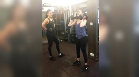 VIDEO: Katrina Kaif is super strict while training Alia Bhatt during a squat exercisesession