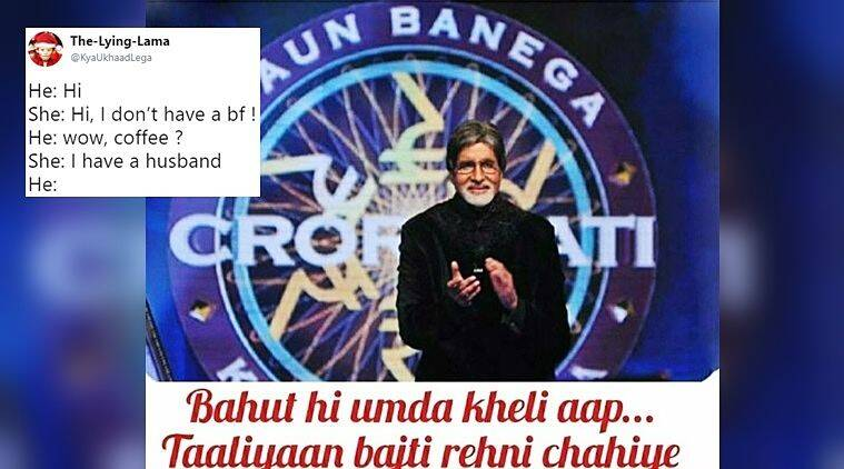 kbc memes twitter_the lying lama_759 this amitabh bachchan still from kbc has twitterati going to town,Download Twitter Funny Meme