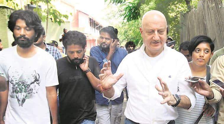 Anupam Kher, FTII Chairman Anupam Kher, Anupam Kher FTII Visits, FTII Pune, Pune News, Latest Pune News, Indian Express, Indian Express News
