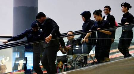 Chaotic scenes as suspects wheeled around airport where Kim Jong Nam was killed