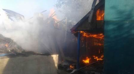 Day after former PDP sarpanch was killed, his house set on fire in Shopian