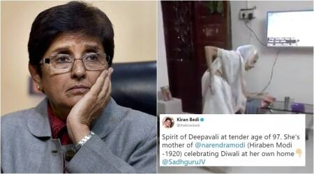 Kiran Bedi tweets video of '97-yr-old woman doing Garba' thinking she is PM Modi's mother; realises mistake later