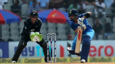 India vs New Zealand Live Cricket Score, 1st ODI in Mumbai: India rebuild with Virat Kohli and MS Dhoni against New Zealand